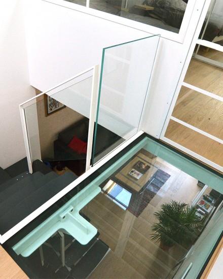 m tallerie lyon garde corps escalier m tallique verre verri re sur mesure verriere. Black Bedroom Furniture Sets. Home Design Ideas