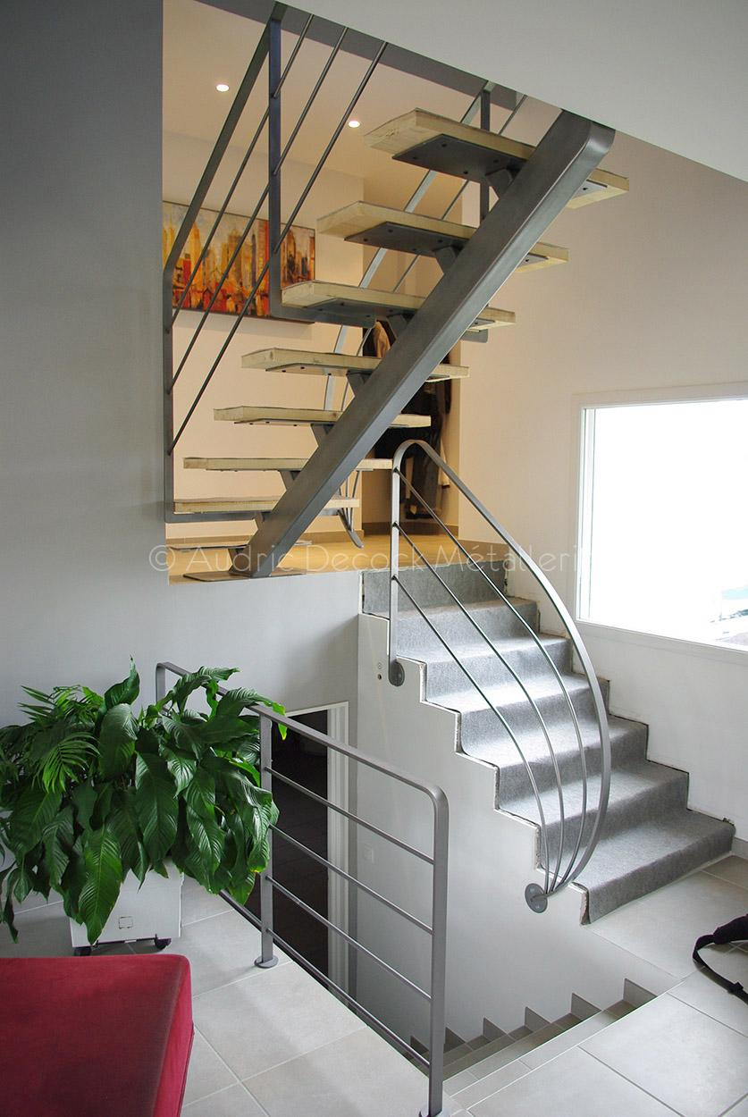 Audric Decock Escalier métallique lyon 69 rhone