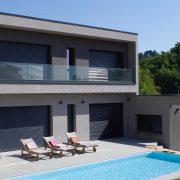 Garde-corps en verre pour un balcon d'une résidence de prestige