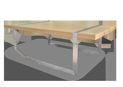 Mobilier design en acier et bois à lyon