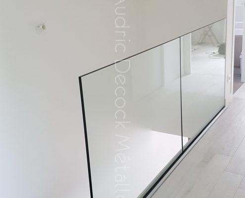 Garde-corps verre droit pour maison individuelle droit