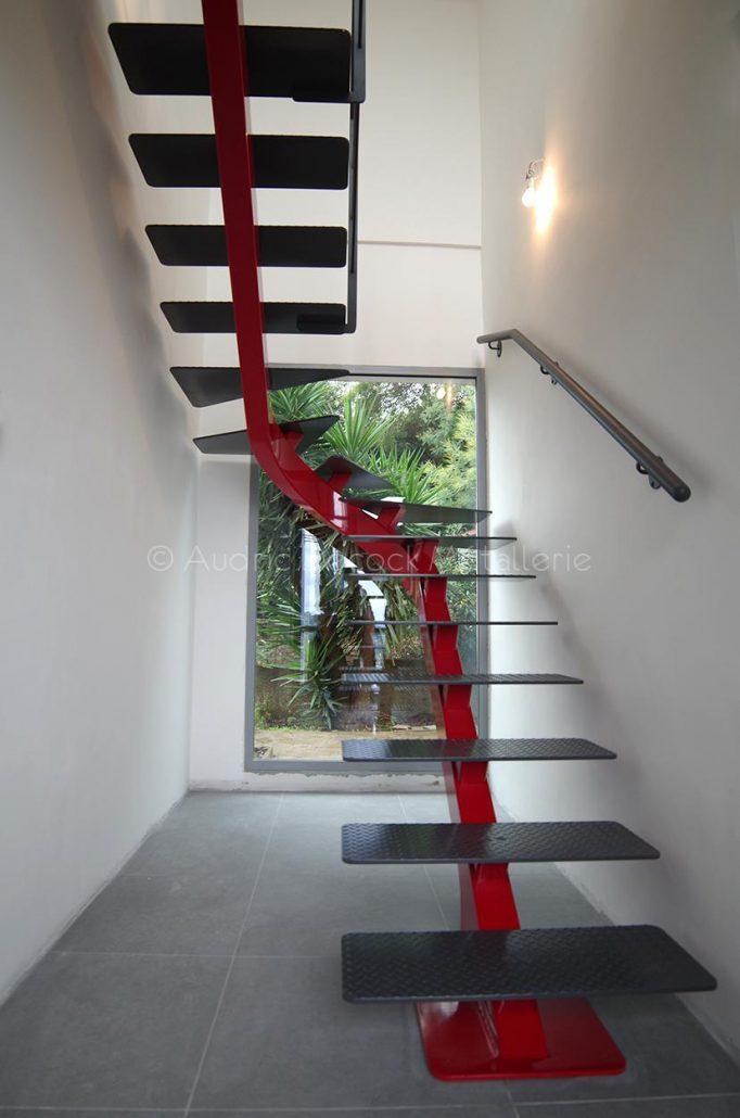 Escalier Double Quarts Tournant Artisan Lyon Verrière Sur