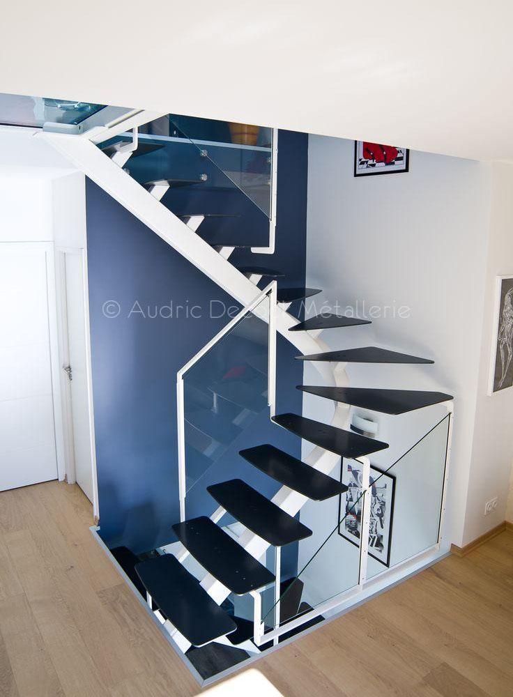 Escaliers métallique à Limonest près de Lyon