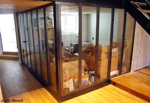 garde corps et ch ssis vitr s m talliques verri re escalier m tal lyon. Black Bedroom Furniture Sets. Home Design Ideas