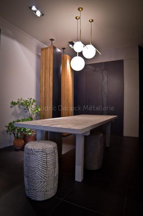 Porte en acier pour le cabinet d'architecture Claude Cartier