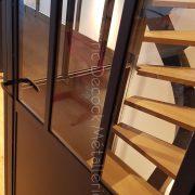 Verrière d'atelier et escalier à limon central à lyon